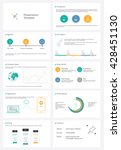 detailed infographic collection ... | Shutterstock .eps vector #428451130