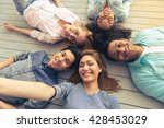 top view of young people of... | Shutterstock . vector #428453029