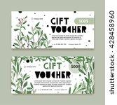 a modern set of a gift voucher... | Shutterstock .eps vector #428458960