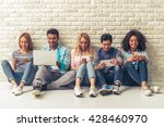beautiful young people of... | Shutterstock . vector #428460970