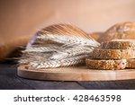 different fresh baked breads on ...   Shutterstock . vector #428463598