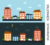 city day and night | Shutterstock .eps vector #428463760