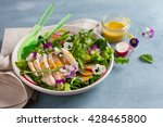 spring salad with radishes ...   Shutterstock . vector #428465800