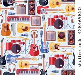 music instruments seamless... | Shutterstock .eps vector #428469850