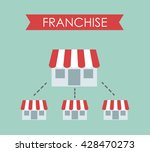 business concept  franchise... | Shutterstock .eps vector #428470273