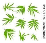 illustration of bamboo leaves... | Shutterstock .eps vector #428473168