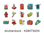 emergency and fire icons set... | Shutterstock .eps vector #428473654