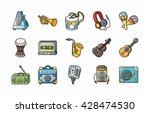 music icons set eps10 | Shutterstock .eps vector #428474530
