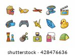 leisure and hobby icons set... | Shutterstock .eps vector #428476636