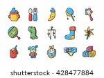 new born baby icons set eps10 | Shutterstock .eps vector #428477884