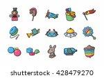 children toys icons set eps10 | Shutterstock .eps vector #428479270