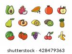 fruits and vegetables icons set ...   Shutterstock .eps vector #428479363