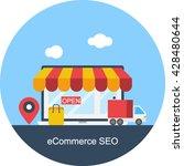 ecommerce seo vector | Shutterstock .eps vector #428480644