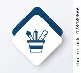 pencil and ruler icon | Shutterstock .eps vector #428480866