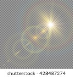 vector transparent sunlight... | Shutterstock .eps vector #428487274