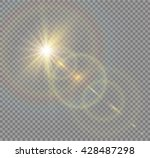 vector transparent sunlight... | Shutterstock .eps vector #428487298