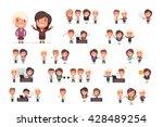 business people vector set | Shutterstock .eps vector #428489254