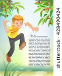 illustration of a young boy... | Shutterstock .eps vector #428490424
