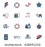 beach web icons for user... | Shutterstock .eps vector #428491210