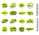 modern brush lettering.... | Shutterstock .eps vector #428498560