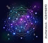 mystical geometry symbol on... | Shutterstock .eps vector #428498890