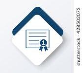 certificate icon | Shutterstock .eps vector #428502073