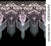 Isolated Crocheted Lace Border...