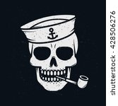 sailor skull. | Shutterstock .eps vector #428506276