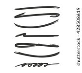 collection of hand drawn lines  ... | Shutterstock .eps vector #428508619