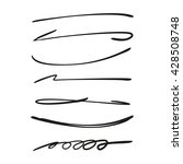 collection of hand drawn lines  ... | Shutterstock .eps vector #428508748