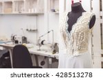wonderful bridal gown in... | Shutterstock . vector #428513278