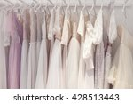 wonderful bridal gowns in a... | Shutterstock . vector #428513443