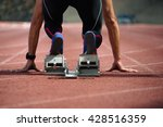 sprint start in track and field | Shutterstock . vector #428516359