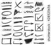 arrows check marks underlines... | Shutterstock .eps vector #428525656