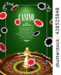 casino logo poster background... | Shutterstock .eps vector #428525848