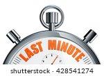 3d rendering of a stop watch... | Shutterstock . vector #428541274