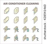 air conditioner and air filter... | Shutterstock .eps vector #428541460