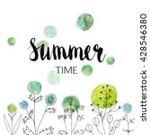 vector summer background.... | Shutterstock .eps vector #428546380