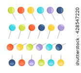 set of push pins in different... | Shutterstock .eps vector #428547220