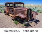 rusted carcass of old abandoned ...   Shutterstock . vector #428550673