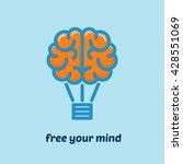 brain as hot air balloon. free...   Shutterstock .eps vector #428551069