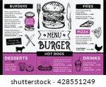 menu placemat food restaurant...   Shutterstock .eps vector #428551249