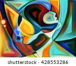 colorful painted design of... | Shutterstock . vector #428553286