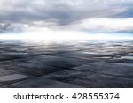 Wet Concrete Floor And Cloud O...