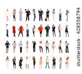 teamwork achievement together... | Shutterstock . vector #428558794