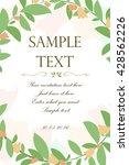 floral card  wedding invitation | Shutterstock .eps vector #428562226