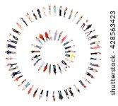 concept image teamwork...   Shutterstock . vector #428563423