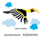 cartoon african hornbill bird.... | Shutterstock .eps vector #428569393