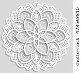 mandala  lacy paper doily ... | Shutterstock .eps vector #428569810