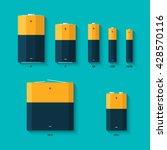 set of batteries of different... | Shutterstock .eps vector #428570116